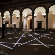 Bianco-Valente Tu sei qui, Cortile di Palazzo Strozzi, 2014, foto Martino Margheri