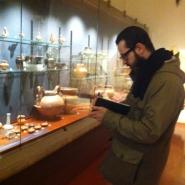 Fabrizio Cotognini negli spazi del Museo Archeologico Provinciale di Salerno per sopralluogo, copyright ph. Fondazione Filiberto Menna.