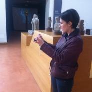 Elena Bellantoni negli spazi del Museo Archeologico Provinciale di Salerno per sopralluogo, copyright ph. Fondazione Filiberto Menna.