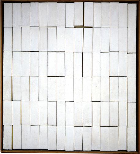 COLOMBO GIANNIStrutturazione pulsante 1963 Polistirolo espanso in blocchetti dipinti con idropittura bianca, animazione elettromagnetica-1