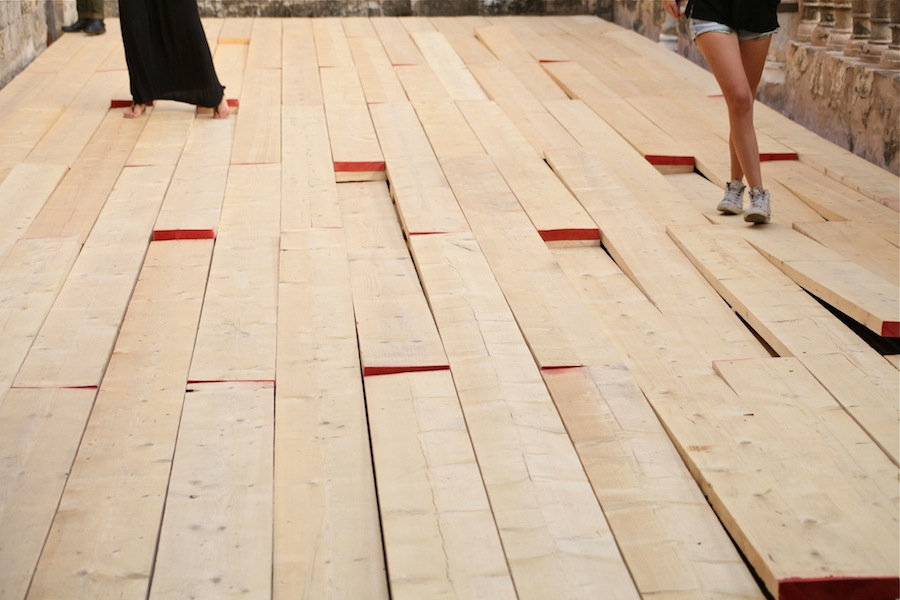 All that fall-2014-Tavole in legno da carpenteria-Museo riso-1
