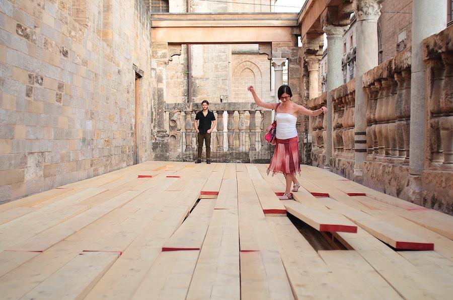 All that fall-2014-tavole in legno da carpenteria-Museo riso-3 ph.FaustoBrigantino