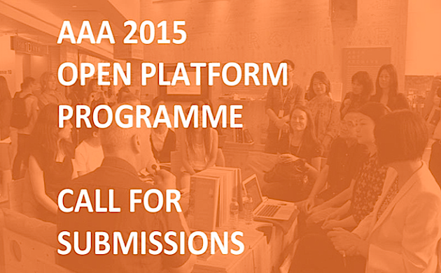 Call for submissions > AAA 2015 OPEN PLATFORM PROGRAMME