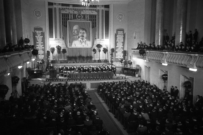 National meeting of kolkhoz chairmen in Tallinn.1952