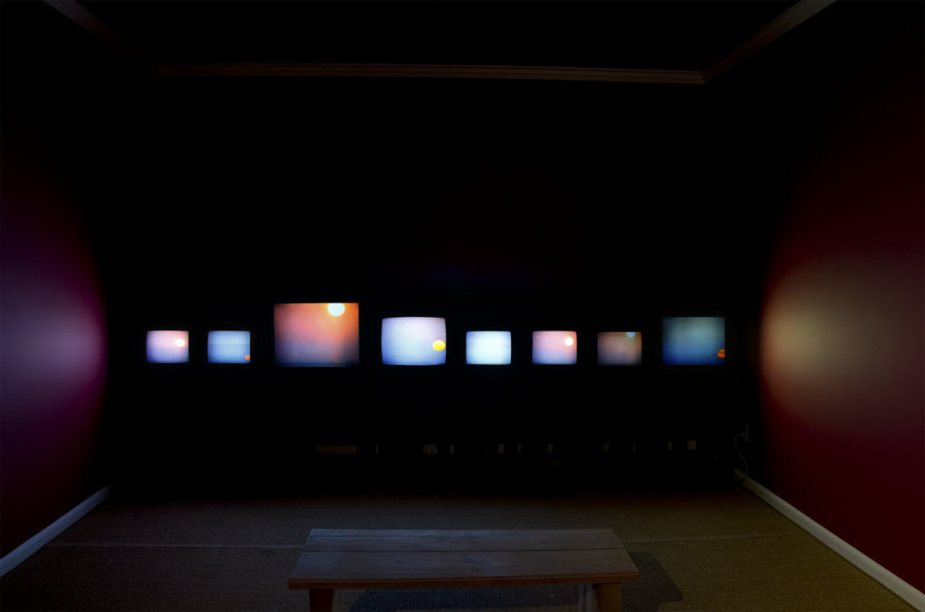Neha Choksi, 'The Weather Inside Me (Bombay Sunset)', 2010 (detail), 9 CRT television sets, 9 dvds, 1 photograph, dimensions variable. Courtesy of the artist and Project 88, Mumbai