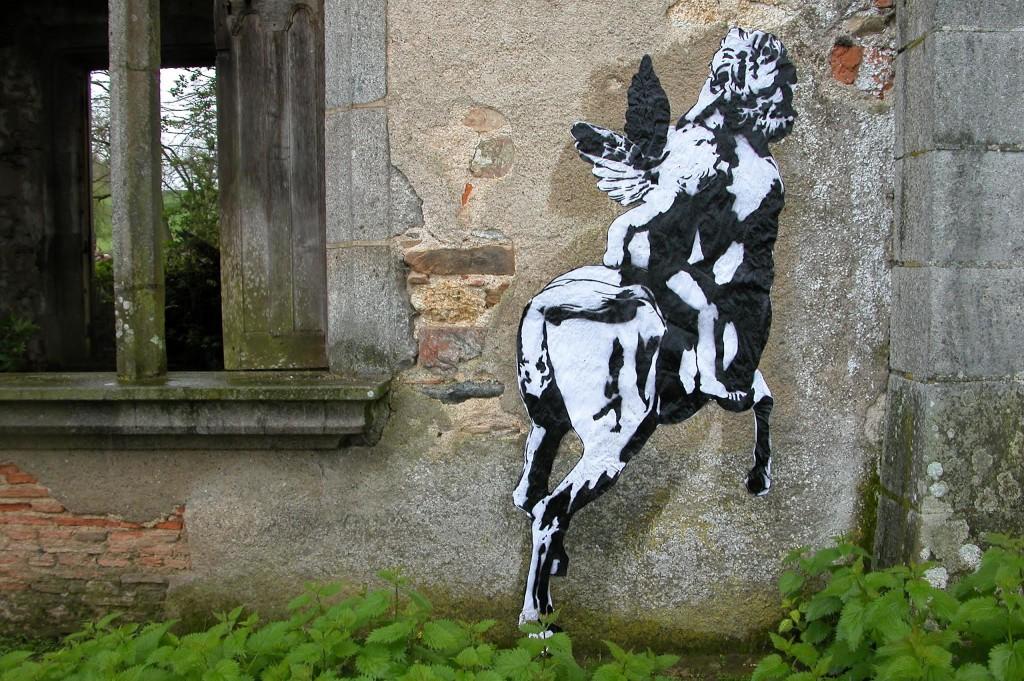 WK_Blek le Rat_Le Centaur_Chateau de Bagnac_2003_©Sybille Prou