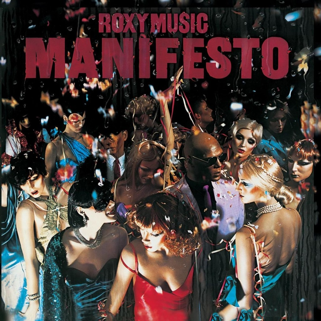 ROXY MUSIC // MANIFESTO (1979) cover design Bryan Ferry w/ fashion designer Antony Price