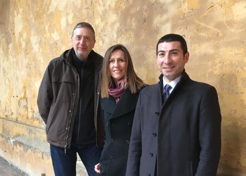 (da sx) Francesco Giomi, Simona Bertozzi, Enrico Pitozzi - foto Nexus